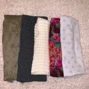 5 different scarves